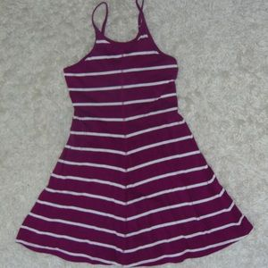 Old Navy Purple Dress with White Stripes